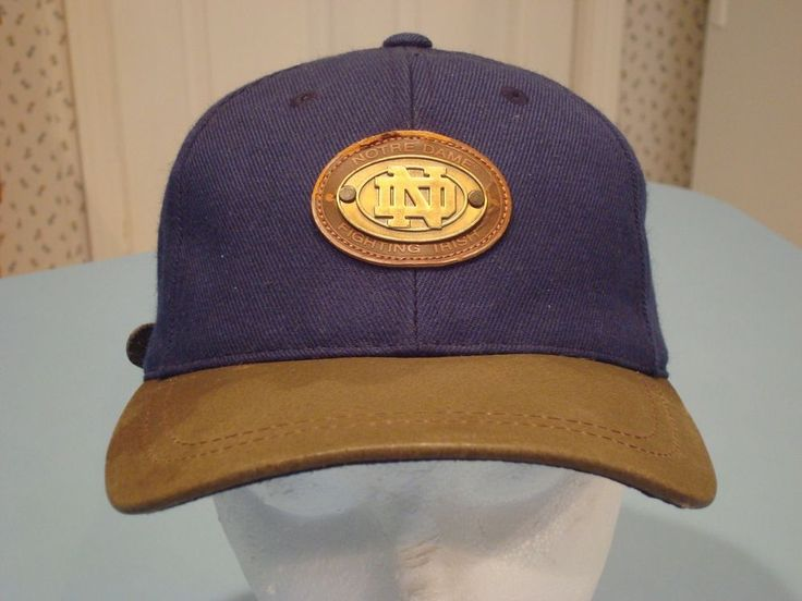 Notre Dame Alumni Ball Cap One Size Fits All Strap Blue Hat Gold Logo Fitted Med #AmericanNeedle #NotreDameFightingIrish