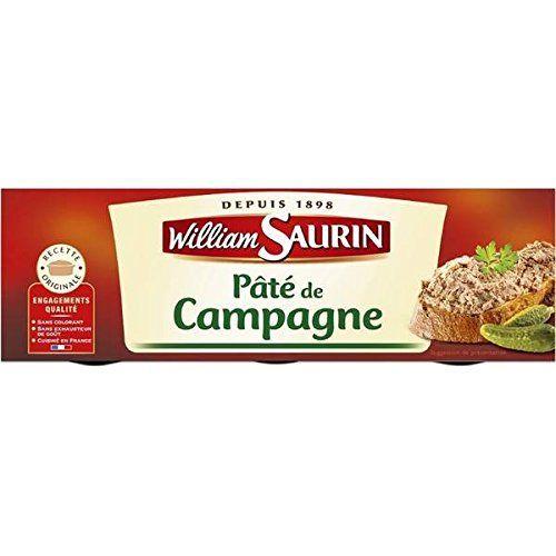 William Saurin pâté de campagne en lot de 3 234g – ( Prix Unitaire ) – Envoi Rapide Et Soignée: Epicerie salée Pâtés, terrines et foie gras…