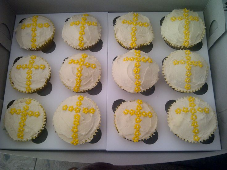 Christianing cupcakes - carrot and pineapple
