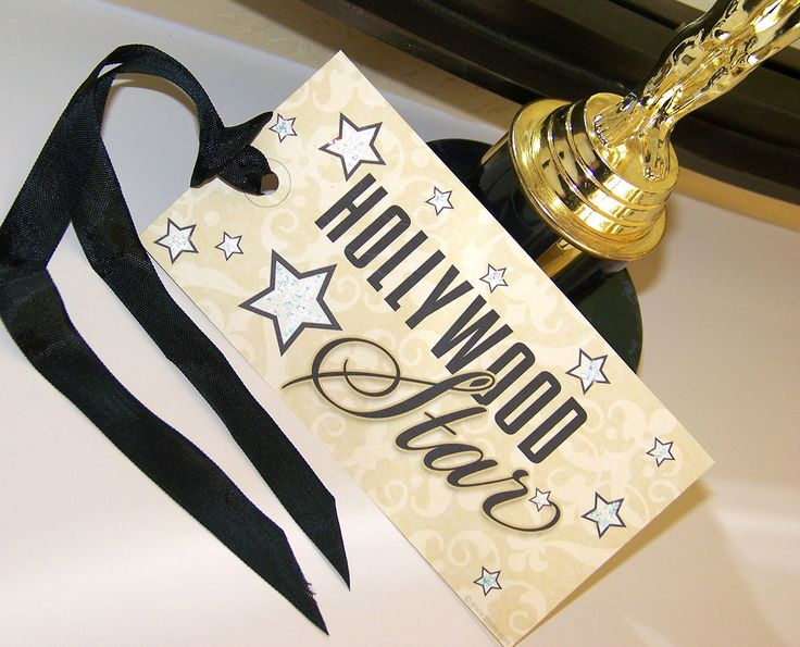 oscar viewing   movie theme   Printable Hollywood Glamour Party - Hollywood Star Tags