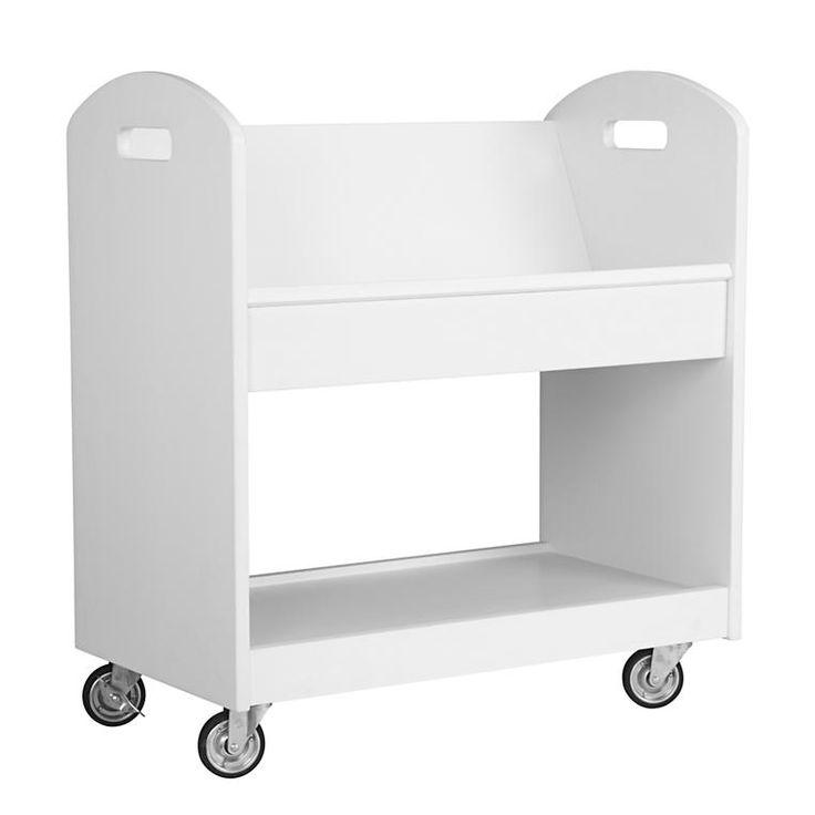Kids Rolling Navy Book Cart