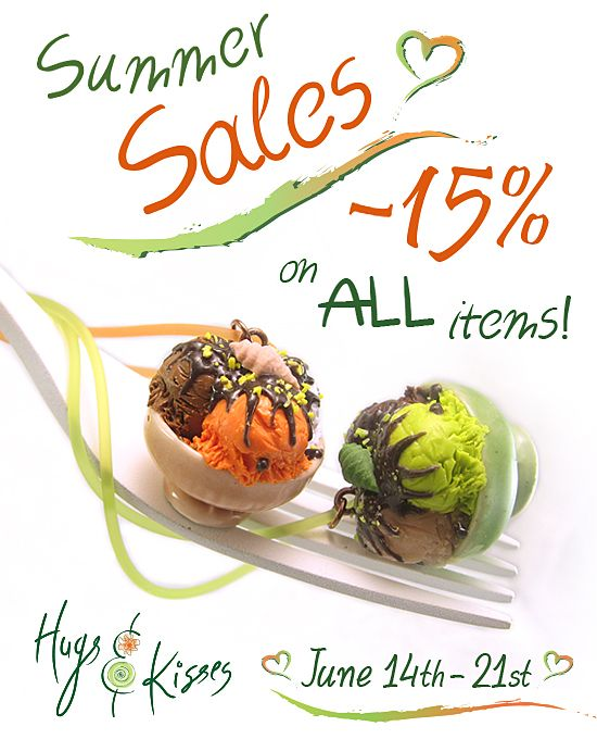 ★☆ SUMMER SALES WEEK ~ 15% OFF ☆★ ~~~~~ www.hugskissesmini.etsy.com ~~~~~ June 14th to 21st enjoy 15% discount on ALL items!! ;-)
