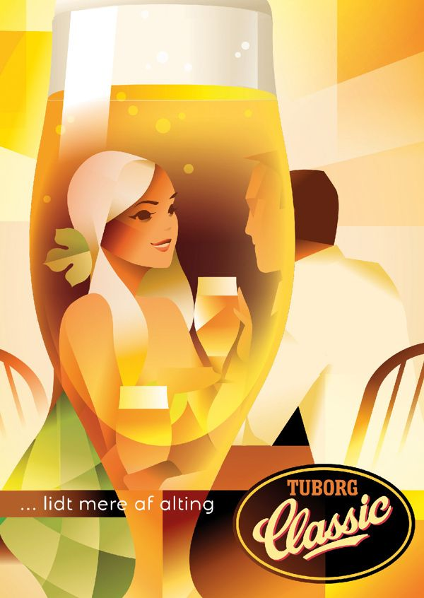 Tuborg Classic by Mads Berg, via Behance