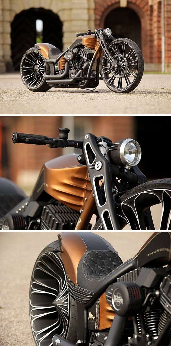 Moto : Illustration Description The latest from the gearheads at Thunderbike, the Precision-R project showcases their custom Frame-Kit and original Thunderbike Monoblock wheels cnc-machined out of solid aluminum blocks. As for aesthetics, its as muscular as they come without the frills,... #harleydavidsonsportsterroadster