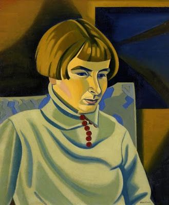 """Portrait of Jean Angus"" 1937 by Rita Angus (New Zealand 1908 - 1970)"