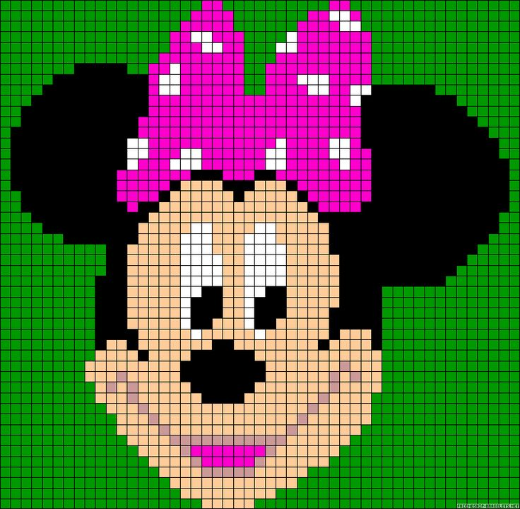Minnie Mouse perler bead pattern