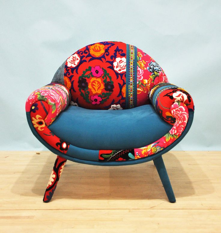 Smiley Patchwork fauteuil amour turquoise par namedesignstudio
