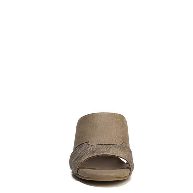 Natural Soul Women's Deana Medium/Wide Mule Shoes (Taupe)