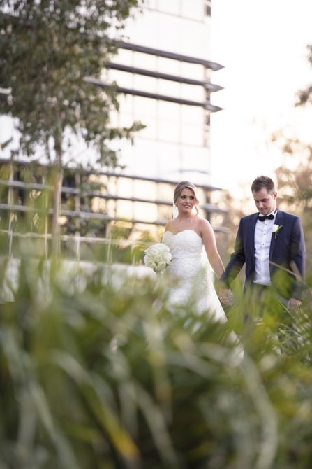 Adding a foreground element here and shooting through the plants/grass adds interest to this shot #markjayphotography #sydneyweddingphotographer #weddingphotography #bride #groom #pose #photography