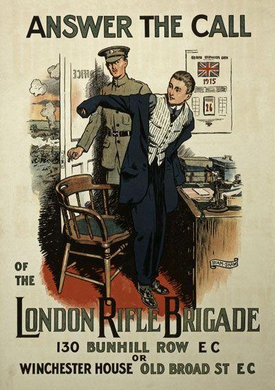 Vintage WWI British London Rifle Brigade