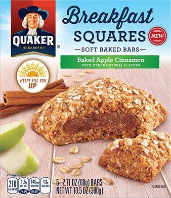 Quaker Breakfast Squares - Baked Apple Cinnamon | QuakerOats.com