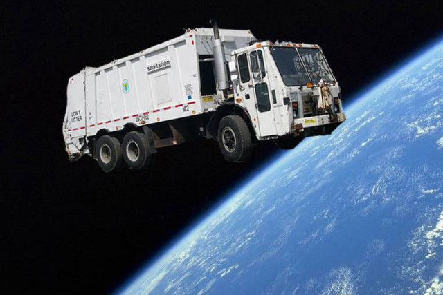 Finally! A Trash Collector For Space Junk!