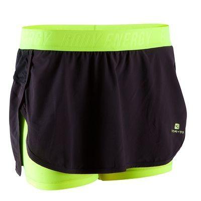 Pantaloni Abbigliamento - Pantaloncini+gonna biking neri DOMYOS - Parte bassa