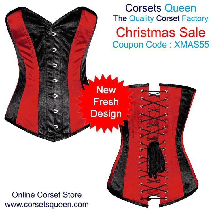 Red and Black Overbust Corset Dress, Red Dress, Black Dress, lack and red Corset