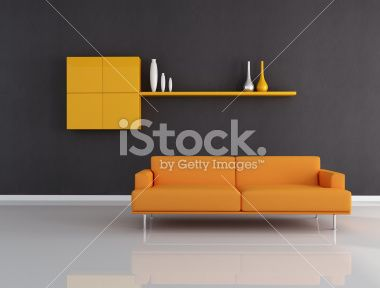 orange and black interior Royalty Free Stock Photo