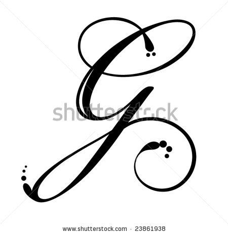 Vector Download » Letter G - Script - » Free Vector Graphics free download and share your vector