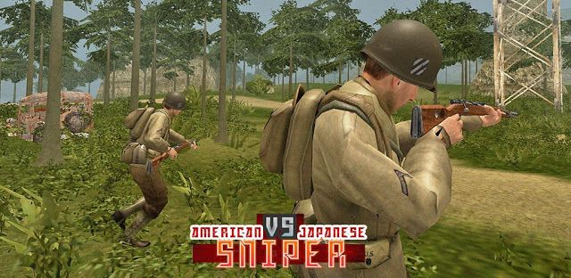 American vs Japanese Sniper v1.1.1  Mod - Action games Battle Sniper Android