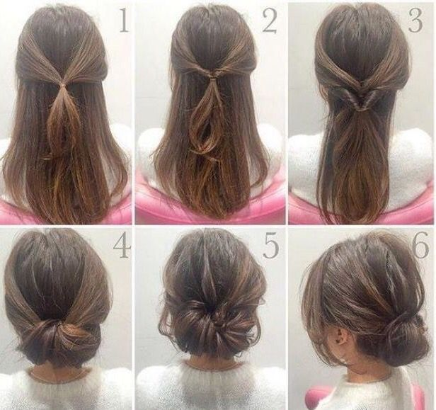 Good Pic Elegant low bun hairstyle, easy to do with a step by step tutorial. Style this h...  Tips  Each hairstyle has their characteristic, and can be separately carried.   You can find so many prett #Bun #easy #elegant #Good #Hairstyle #Pic #step #Style #tips #Tutorial