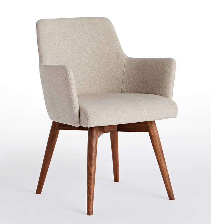 Dexter Arm Chair Upholstered Arm Chair Fabric Dining Chairs