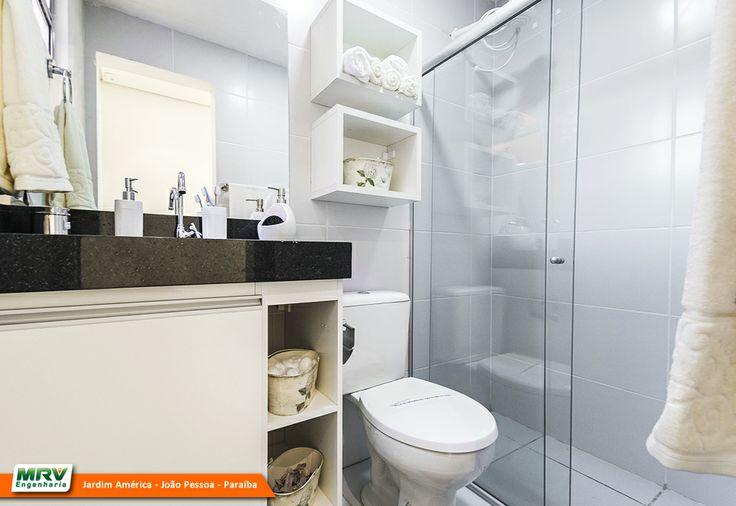 Apartamento decorado 2 quartos do Jardim América no bairro Ernani Sátiro  Jo -> Banheiro Decorado Ap