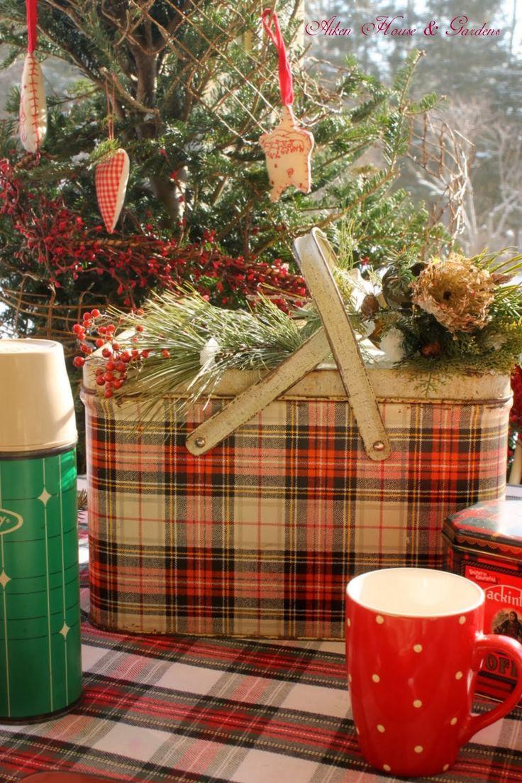 vintage Christmas   plaids  amp  polka dots   Aiken House  amp  Gardens