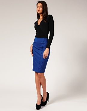 11 best Blue Pencil Skirt images on Pinterest