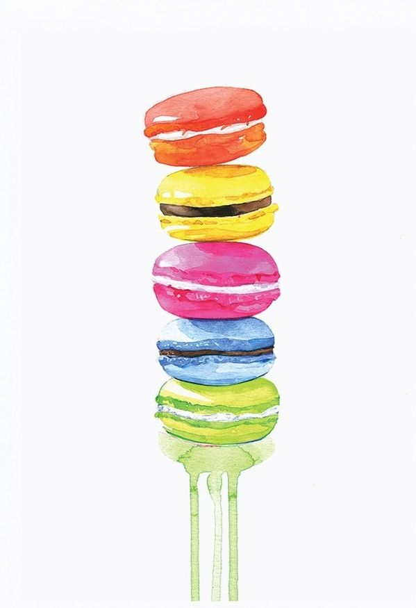 Adding a whimsical touch to the home with this delightful rendition of a stack of rainbow macarons.