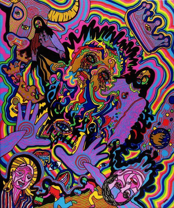 *Jesus Cry* 46x55 *Ivan de Nîmes* - Peinture, 46x55 cm ©2016 par Ivan De Nîmes - Art figuratif, Cubisme, Dada, Illustration, Peinture contemporaine, Street Art (Art urbain), Symbolisme, figuration libre, Jésus, épilepsie, combas, basquiat