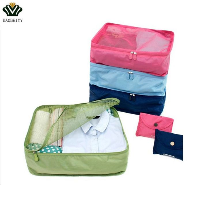 BAOBEIYY Foldable Portable Nylon Mesh Underwear Cosmetics Storage Bags For Clothes Travel Pouch Luggage Organizer Tidy Box  #Affiliate