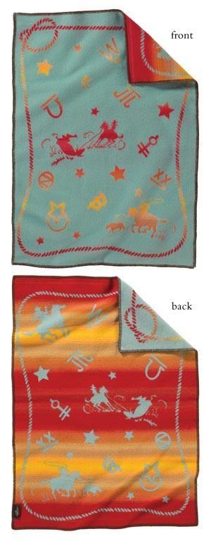 Rodeo Tales & Gypsy Trails: Lil' Buckaroo - Pendleton Wool Baby Blanket