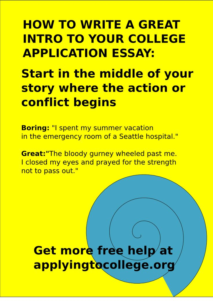 What would a good admissions essay include?