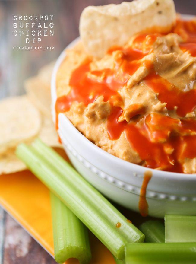 Crockpot Buffalo Chicken Dip — Pip and Ebby