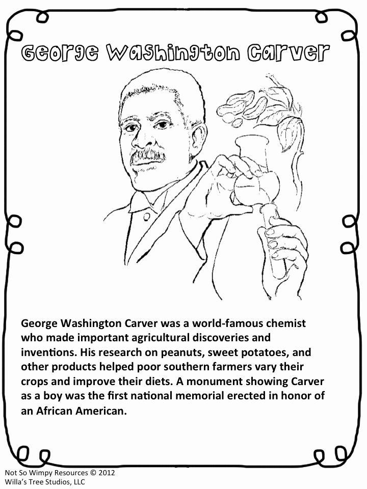 George Washington Carver Coloring Page Fresh George Washington