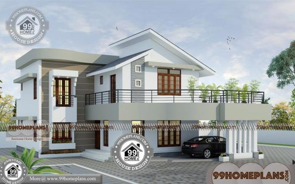 Cheap Two Story House Plans With Less Expensive And Marvelous Design House Balcony Design House With Balcony Two Story House Plans