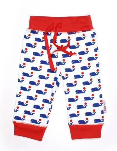 Babybroekje met walvisprint - Baba Babywear - Pepatino.be - Webshop kinderkleding - Shop Online - Afhaalpunt in Aalst