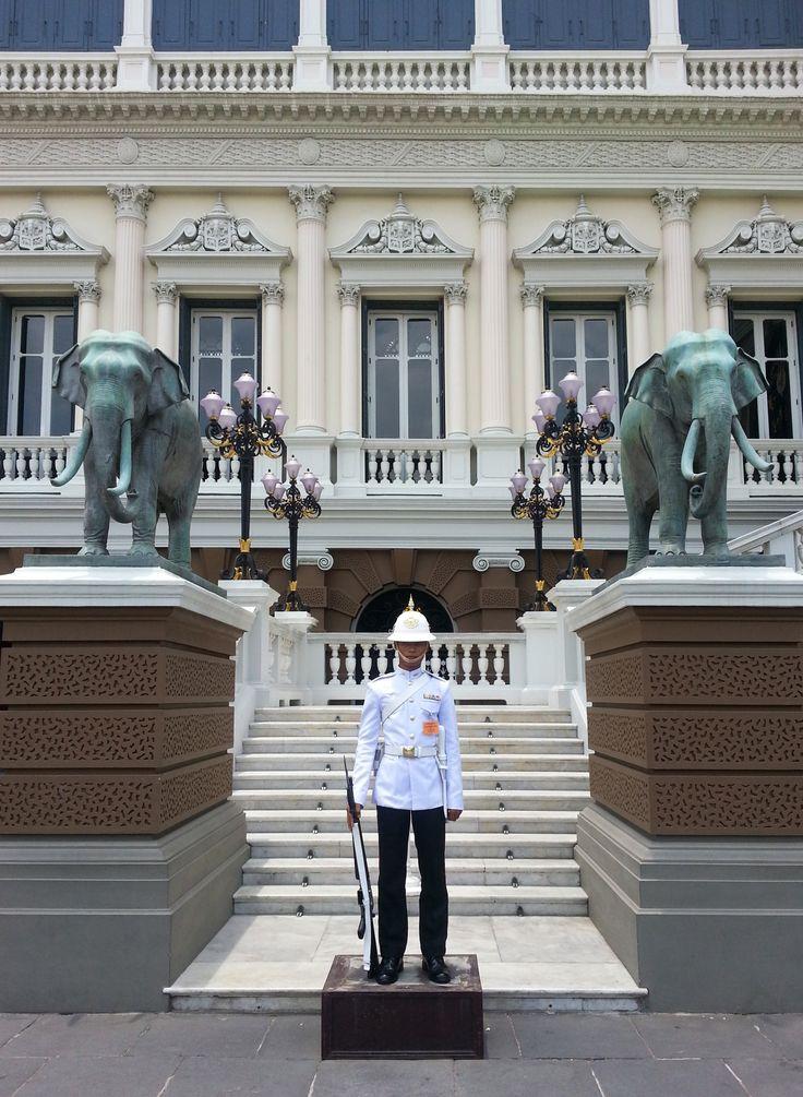 Guard at the Grand Palace, Thailand.
