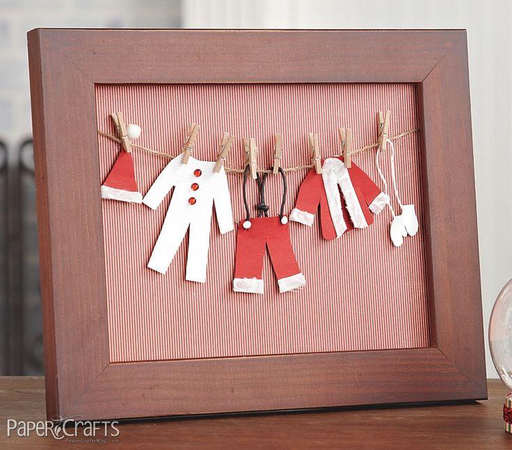 Santa's Clothesline Frame by @Beth J Opel