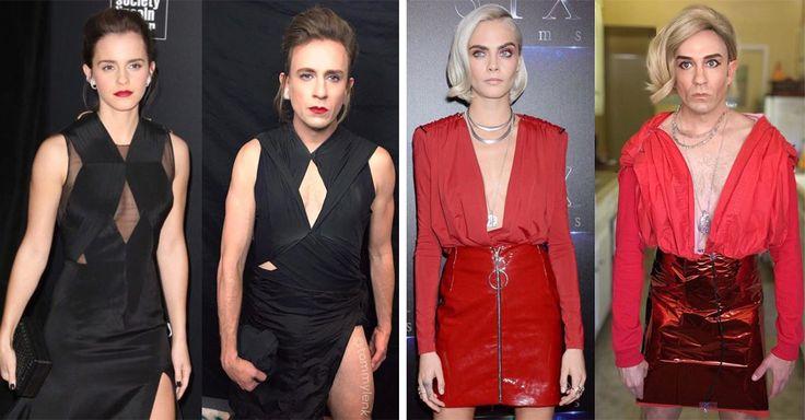 El ex actor de Buffy, la Cazavampiros, Tom Lenk, se ha dedicado a parodiar a los artistas de forma épica, sus looks baratos son los más aplaudidos en las redes