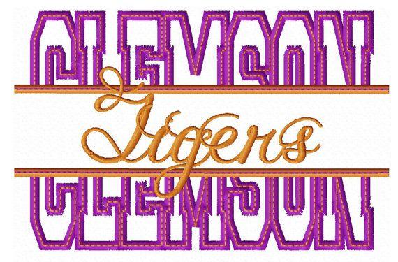Clemson Embroidery Design