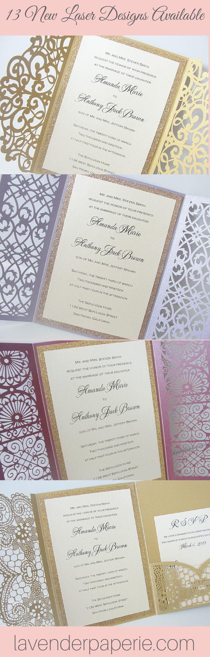 New Laser Wedding Invitation Designs 711 best