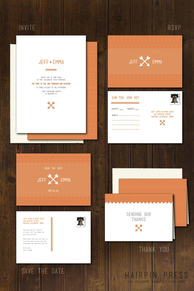 south african traditional wedding invitations samples%0A Arrow Wedding Set  Hipster Indie Modern Chevron Southwest Tribal  Invite  Invitation RSVP Save the