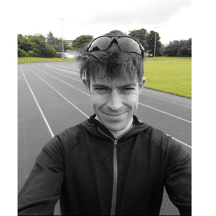Saturday morning track session. 3miles @ HM pace 3min jog 2miles 2min jog 1mile....Done! Great training with Mackie and Disco. Earned my breakfast! #teamashmei #teameac #track #training #halfmarathon #runhappy #running #irun #instarunner #edinburgh #saughtontrack