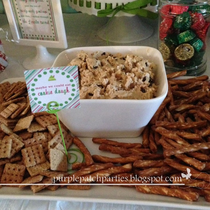 """Elf"" Movie Themed Christmas Party: cookie dough dip"