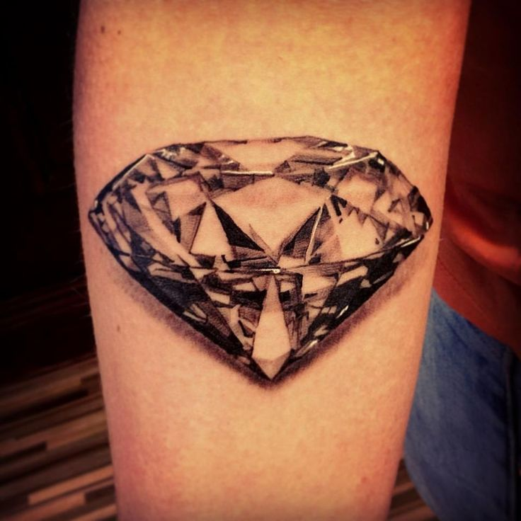 30 Diamond Tattoo Designs Ideas | White tattoos, Diamond ...