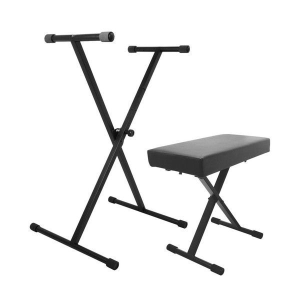 Padded Piano Bench Electric Keyboard Stand Modern Key Board Stand Seat Black New…