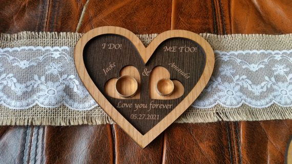 Country ring bearer box personalized ring by AmazingWoodCraft