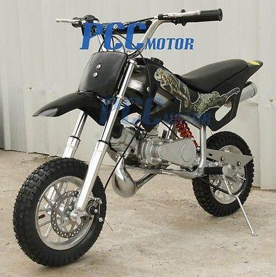 49cc 2-Stroke GAS Motor Scooter Mini Pocket Dirt Bike Free S/H H DB49A BLACK