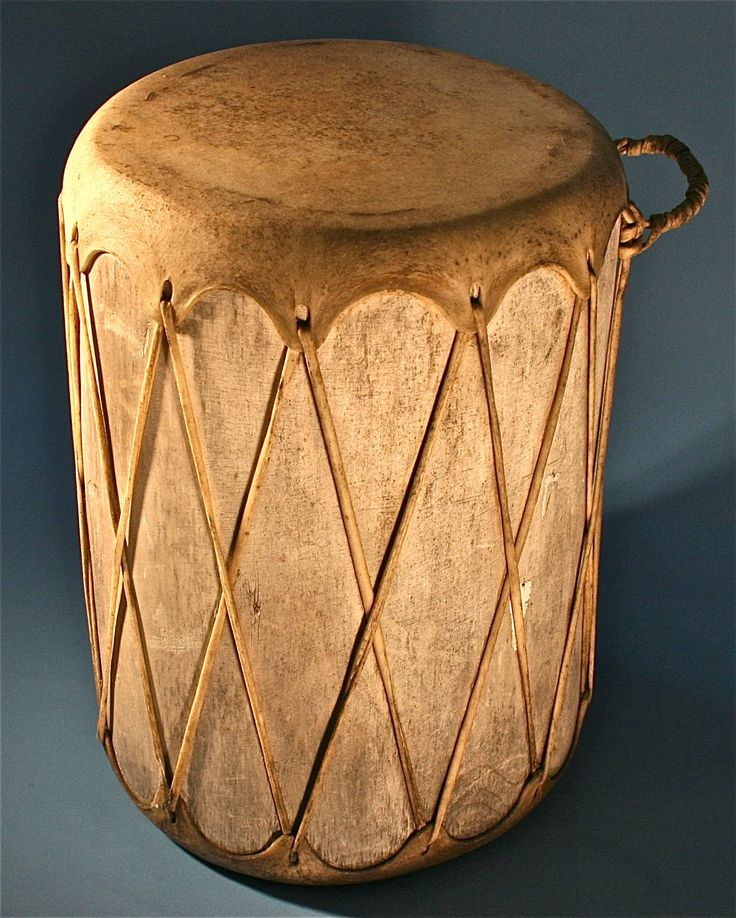 Tribal Leather Wooden Drum