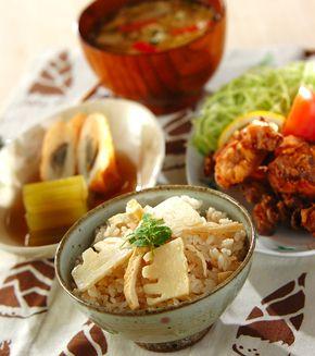 タケノコご飯」の献立・レシピ - 【E・レシピ】料理のプロが作る簡単 ... タケノコご飯の献立