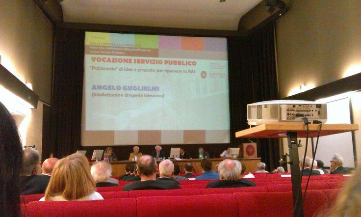 Al primo incontro è intervenuto anche Angelo Guglielmi, fondatore storico di Rai Tre (21/lug/14)